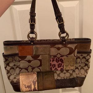Coach Safari Patchwork Purse